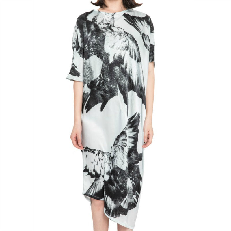 Ann Demeulemeester White / Black Rasoseta Birds Dress