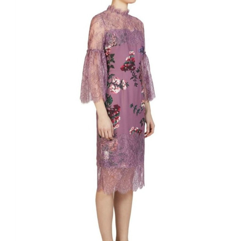 ERDEM Lilac Kiya Cocktail Dress