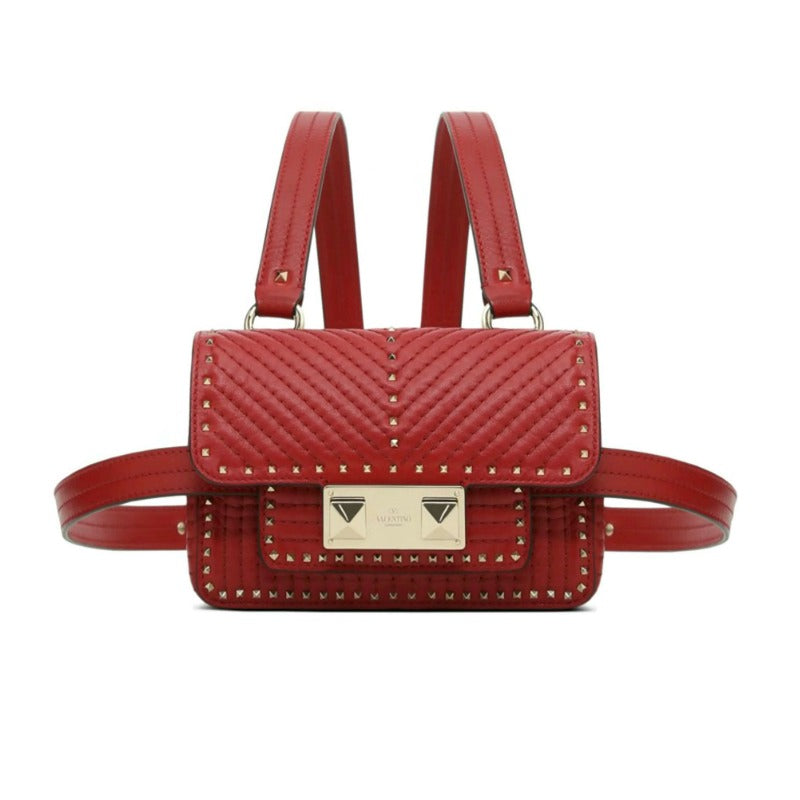 Valentino Mini Belt Red Leather Cross Body Bag