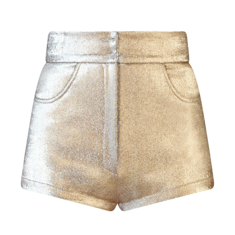 Dolce&Gabbana Gold Metallic Lamé Shorts