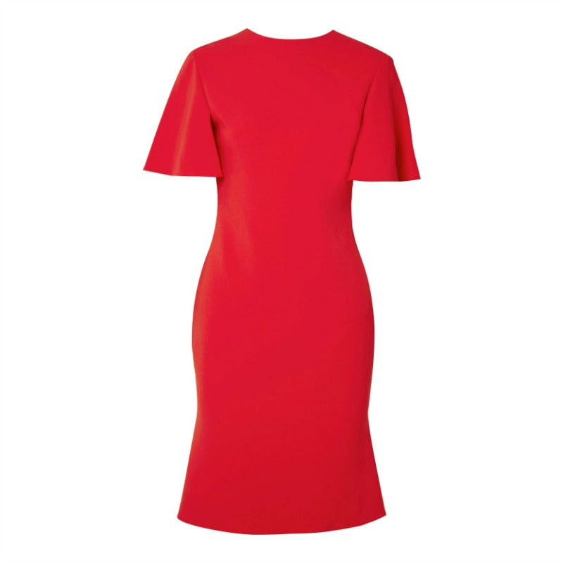 Brandon Maxwell Red Open Back Dress