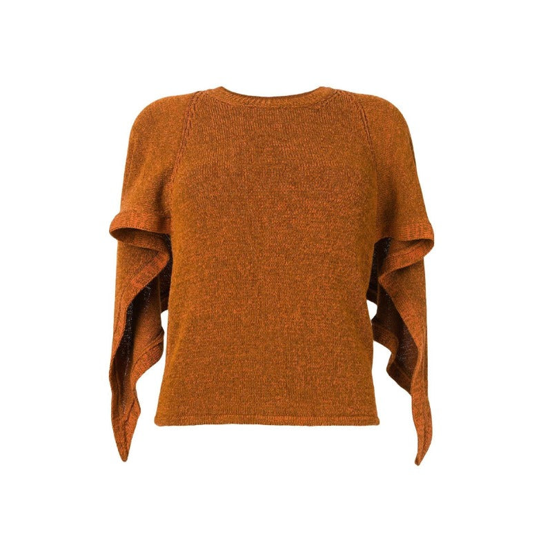 Chloé Ruffle Sleeve Orange Hazel Sweater