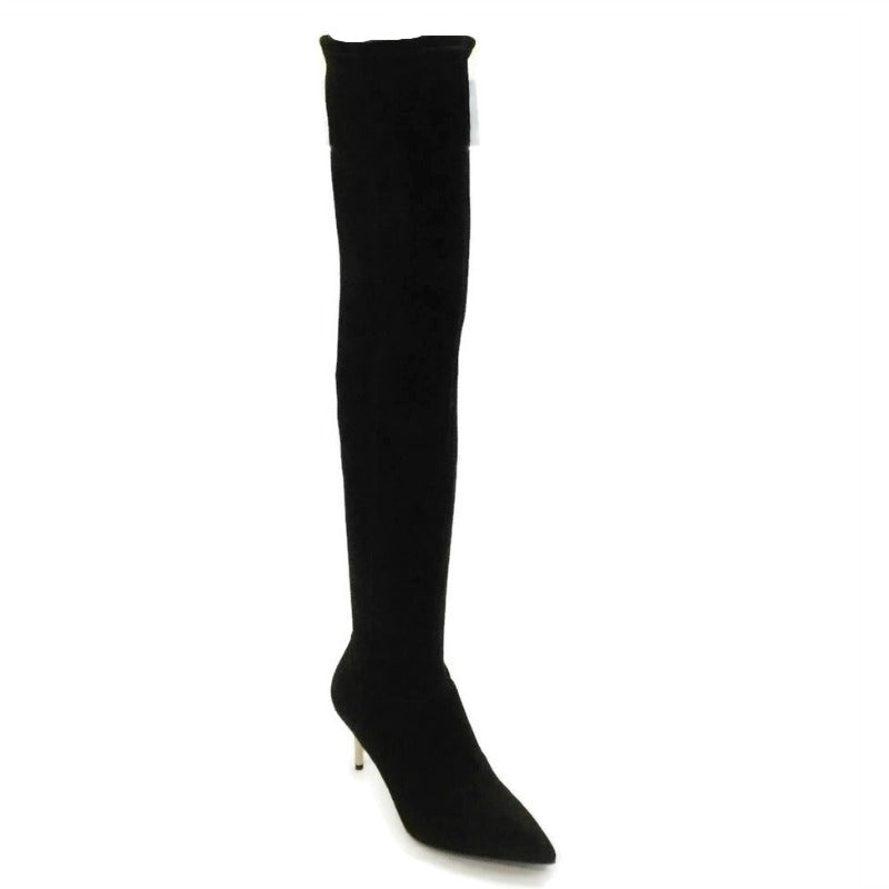 Brian Atwood Black Gold Heel Boots