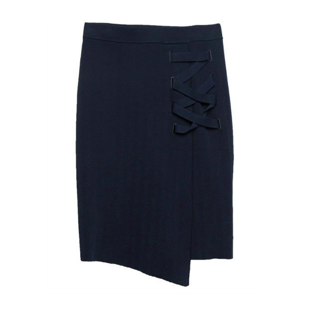 Jonathan Simkhai Navy Stretch Skirt