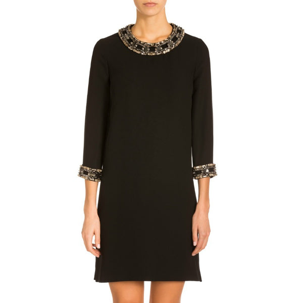 Gucci Black Embellished Shift Dress