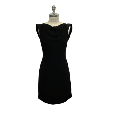 Calvin Klein 205W39NYC Black Low Shift Cocktail Dress