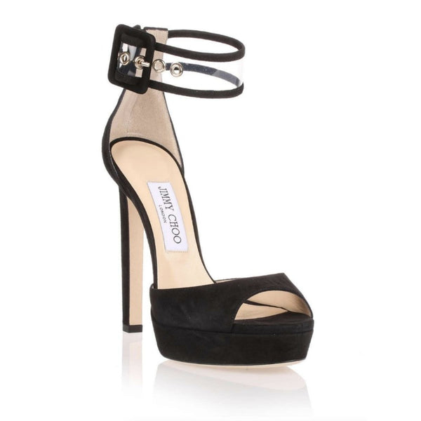 Jimmy Choo Black Mayner Sandals