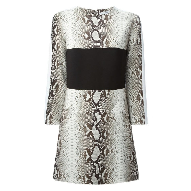 Carven Snake Print Paneled Dress