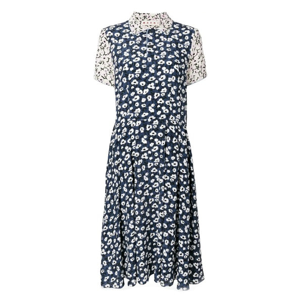 Marni Blue Multi Sofia Print Dress