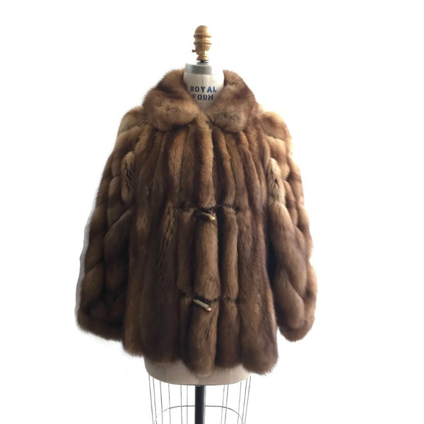 Birger Christensen Honey Sable Jacket Fur Coat