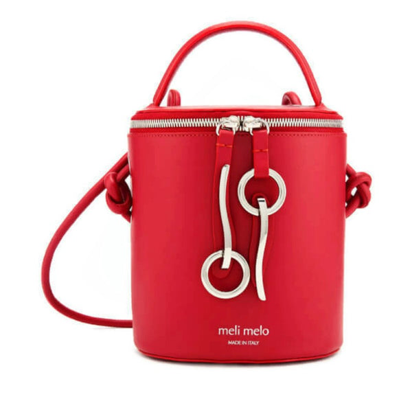 b5db9b9a8117 Meli Melo Severine Bucket Red Leather Cross Body Bag – Roundabout ...