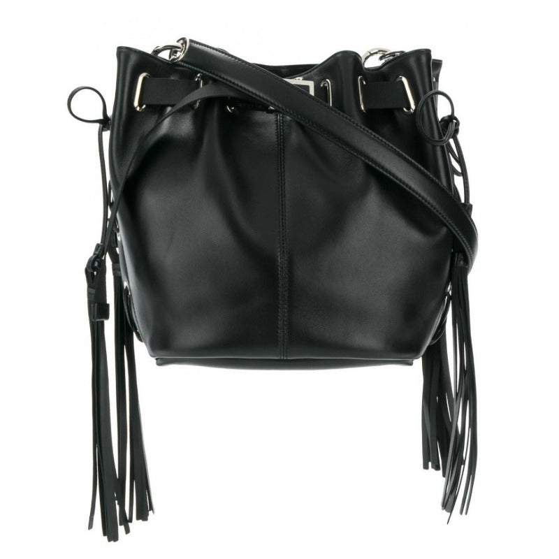 Roger Vivier Bucket Balluchon Black Leather Shoulder Bag