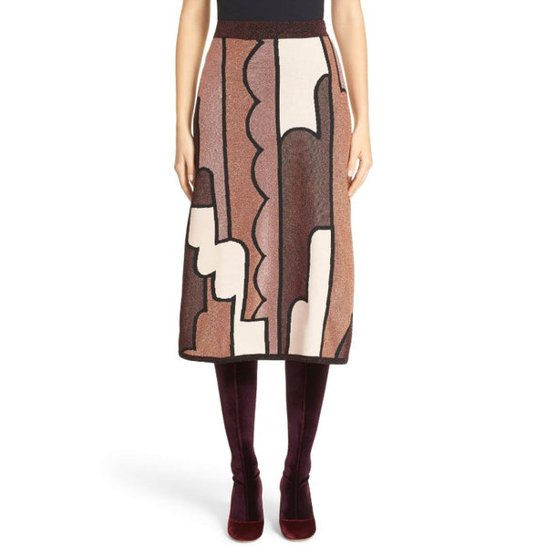 Roksanda Brown Multi Dalby Knit Skirt