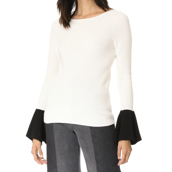 Ramy Brook Francette Ivory / Black Sweater