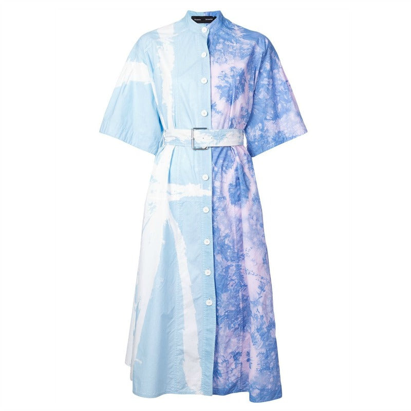 Proenza Schouler Baby Blue / Lilac Tie Dye Dress