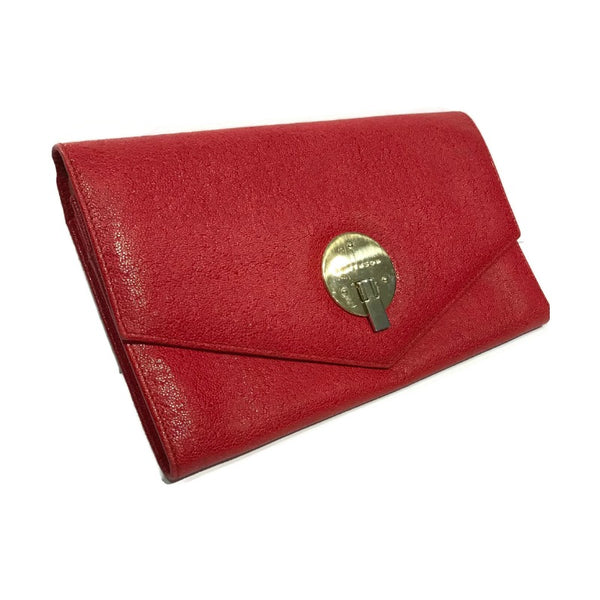 Smythson Red Leather Travel Wallet
