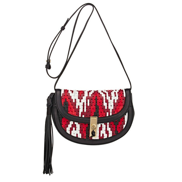 Altuzarra Ghianda Red / Black / White Woven Leather Bag