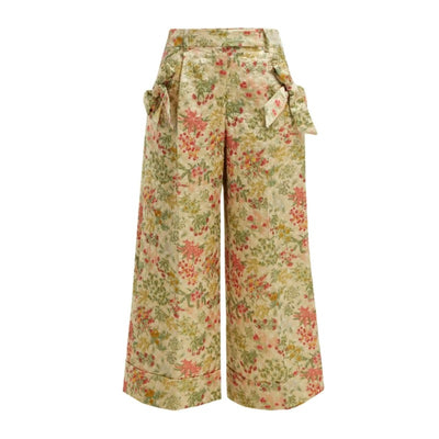 Simone Rocha Floral Multi Bow Trim Pants