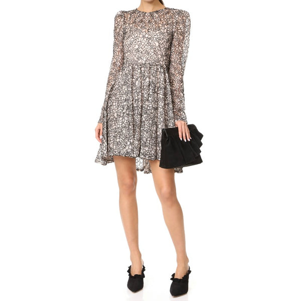 MILLY Blush/Black Aria Dress