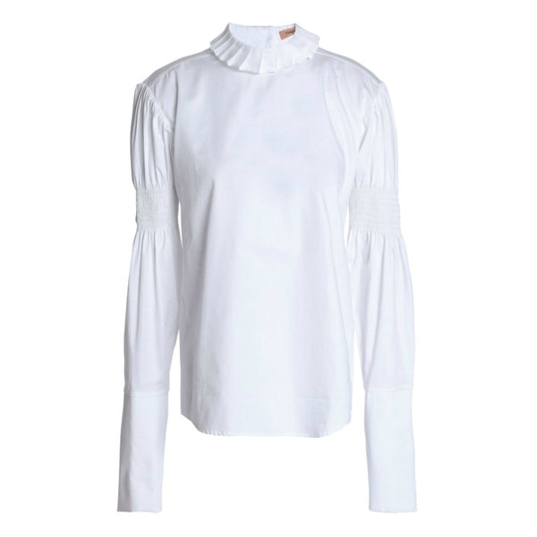Maggie Marilyn White Shirred Sleeve Blouse