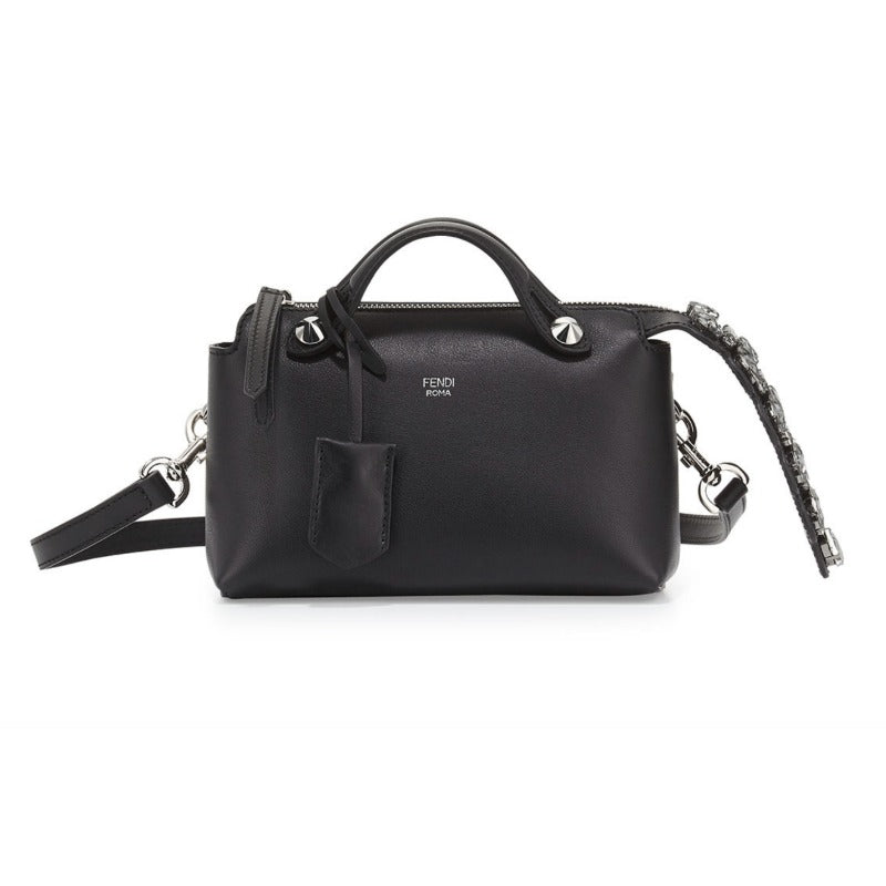 Fendi Mini By The Way Black Leather Cross Body Bag