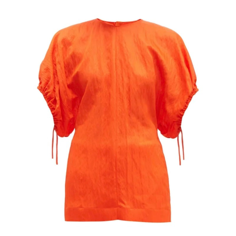 Jil Sander Vivid Orange Loretta Blouse