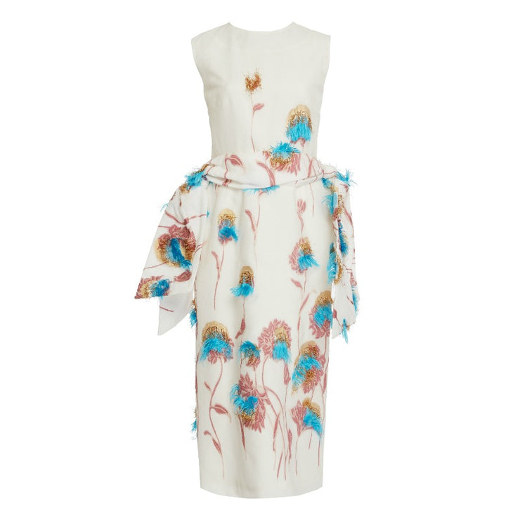 Edeline Lee White / Multi Geronimo Dress