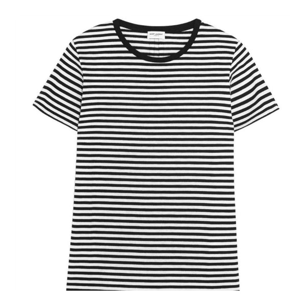 Saint Laurent Black/White Striped Tee Shirt
