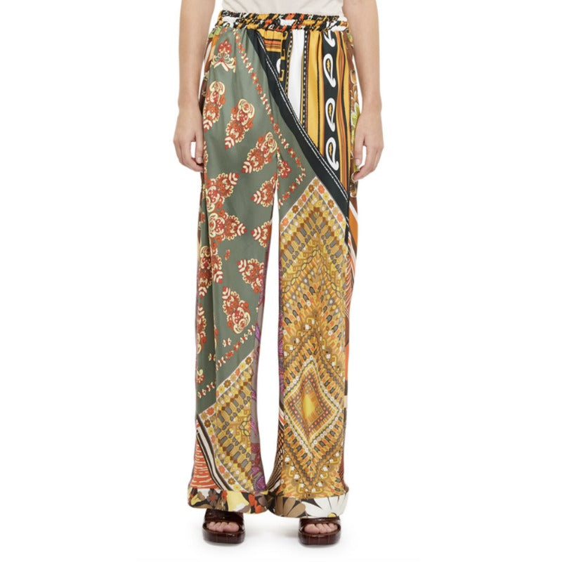 Chloé Multi Orange Patchwork Pants