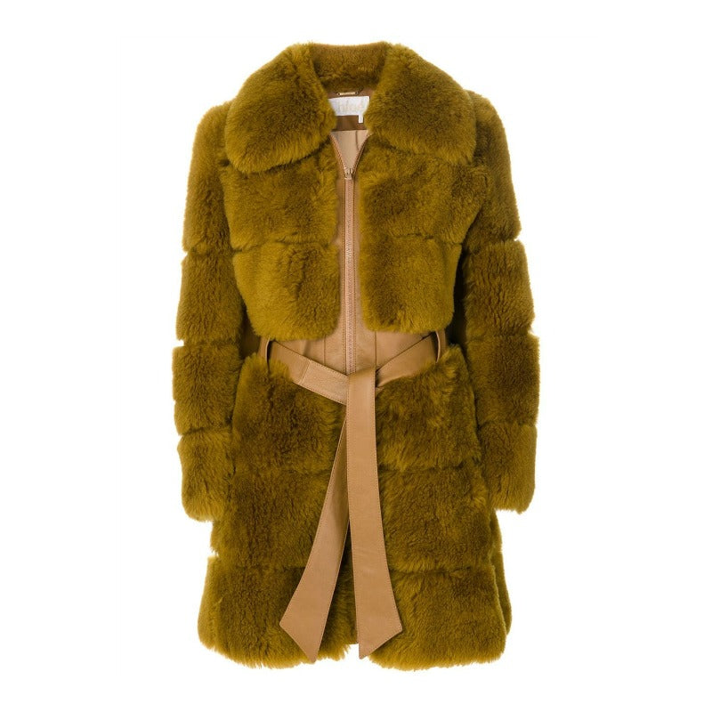 Chloé Olive Brown Lambskin Coat