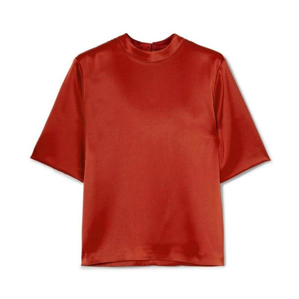 Nanushka Red Kaden Satin Tee Shirt