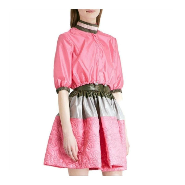 MARY KATRANTZOU Pink Poppy Shell 3/4 Sleeve Jacket