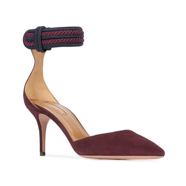 Aquazzura Prune / Navy Shanty 75 Pumps