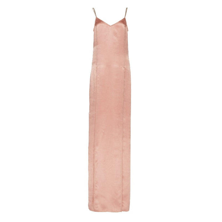 Nina Ricci Blush Pink Crinkled Satin Cocktail Dress