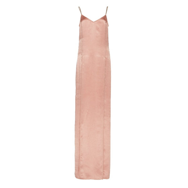 Nina Blush Pink Crinkled Satin Cocktail Dress