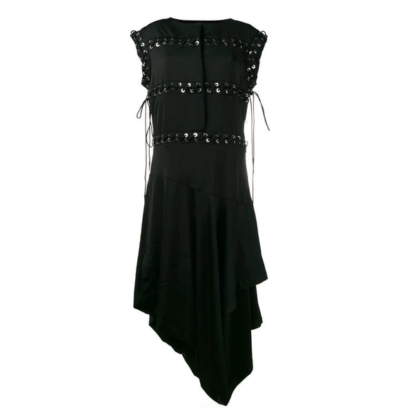 J.W.Anderson Black Asymmetric Lace Up Dress