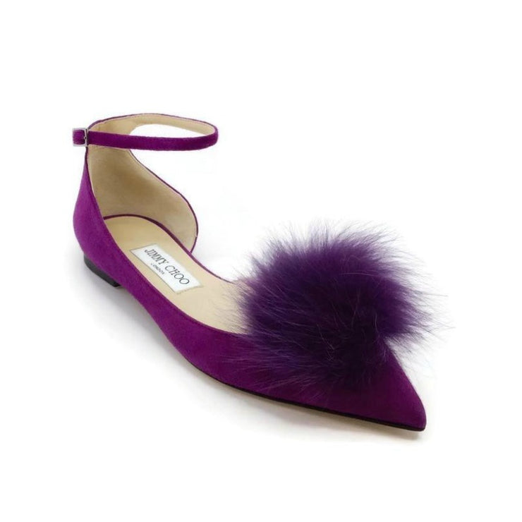 Jimmy Choo Purple Rosa Madeline Flats