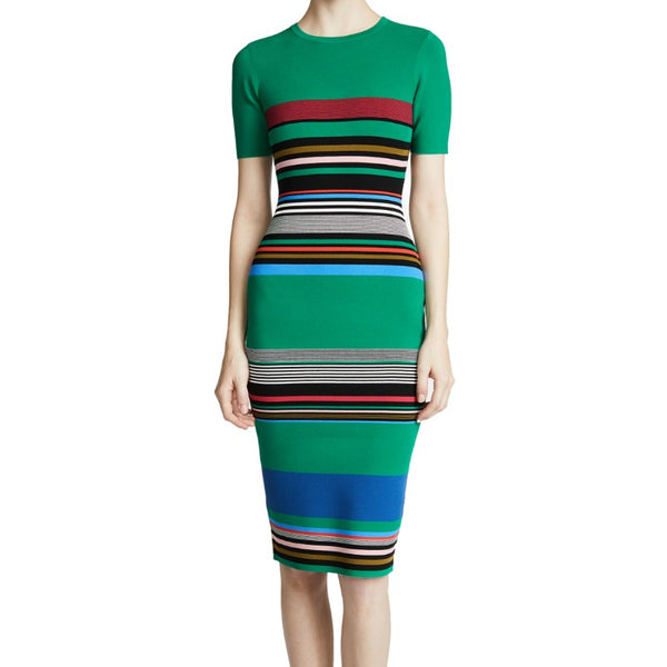 Diane von Furstenberg Juniper Multi Soft Shoulder Sweater Dress