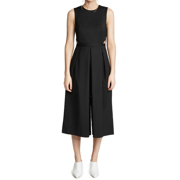 Tibi Black Agathe Cut Out Jumpsuit