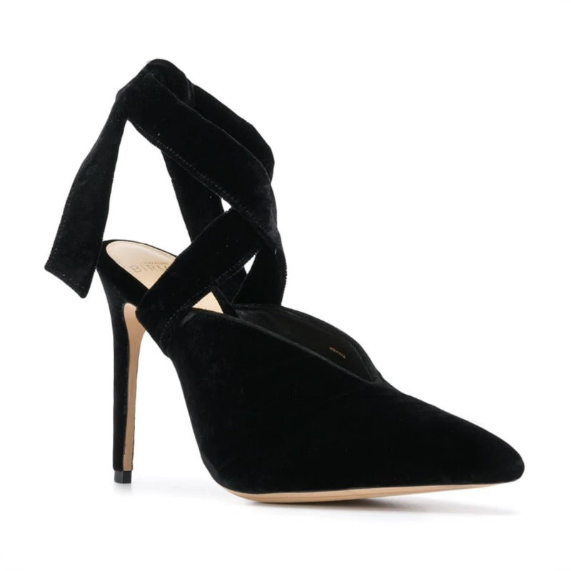Alexandre Birman Black Velvet Sally Pumps