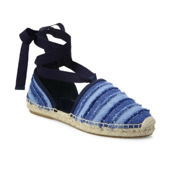 Jimmy Choo Light Denim Dolphin Macrame D'orsay Espadrilles