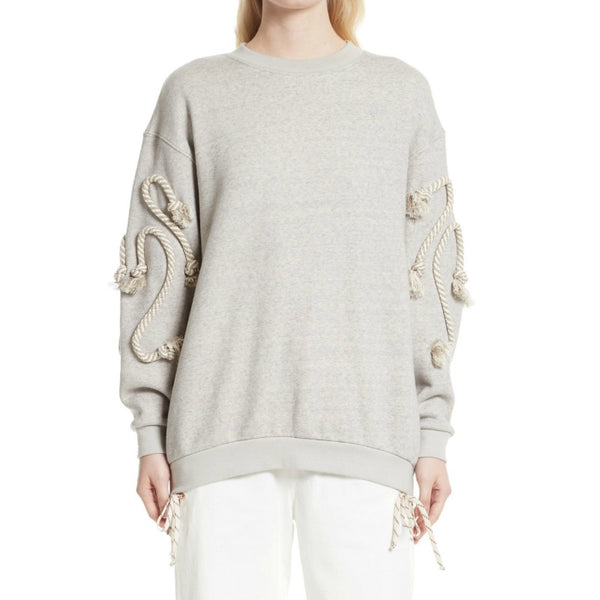See by Chloé Drizzle Grey Rope Sweatshirt