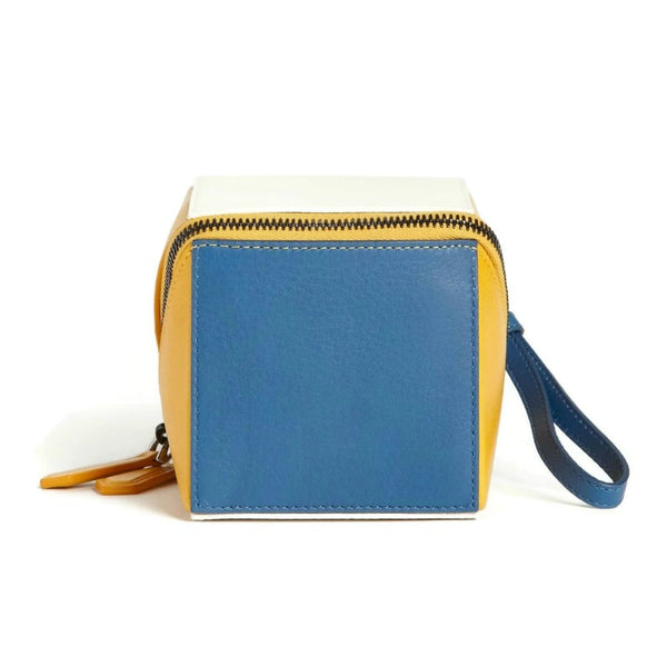 Fendi Cube Multicolor Leather Wristlet