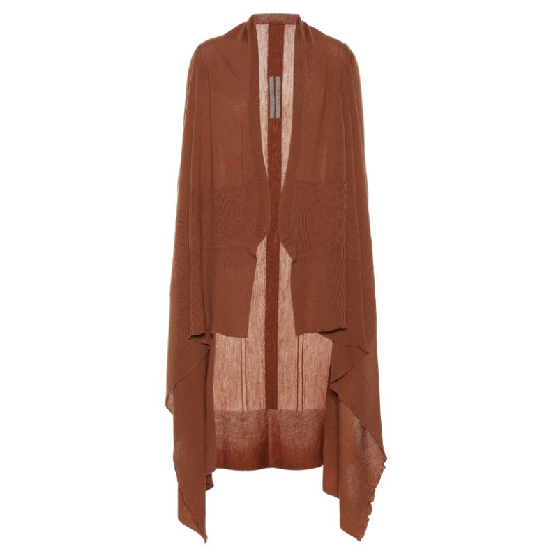 Rick Owens Open Front Cardigan Sienna Sweater