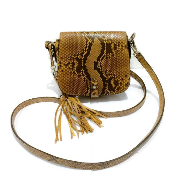 Michael Kors Snake With Tassel Brown Cross Body Bag