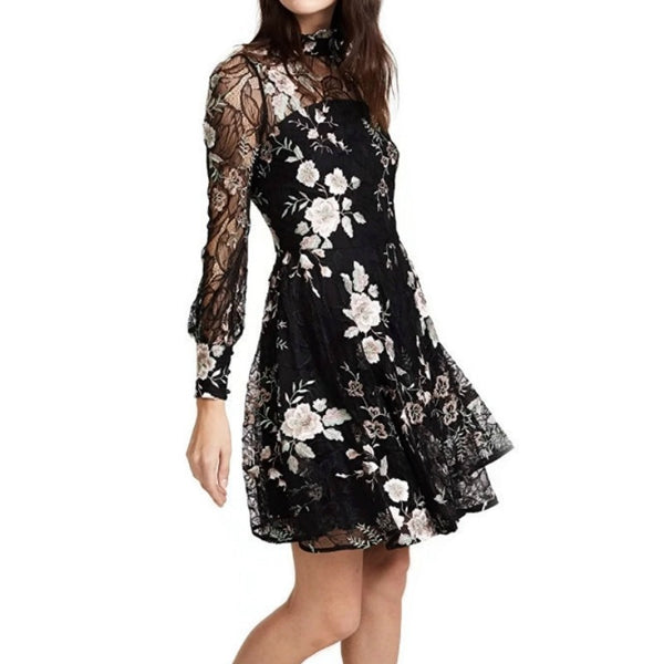 ZAC Zac Posen Black Multi Zarina Casual Dress