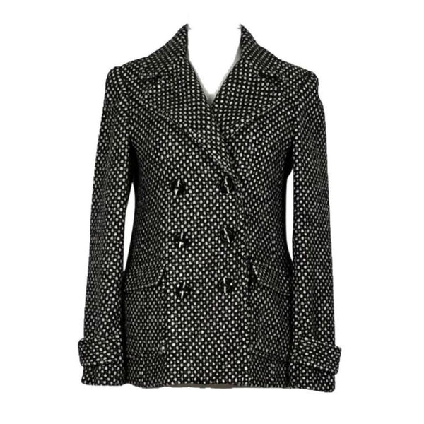 Alice + Olivia Black/White Metallic Tweed Blazer