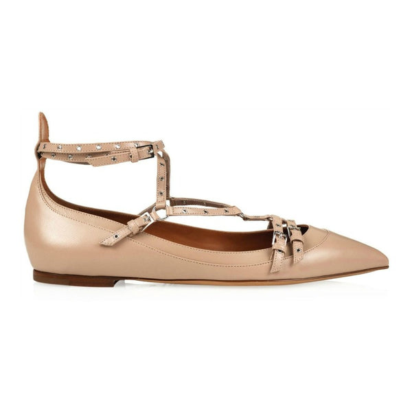 Valentino Natural Love Latch Flats