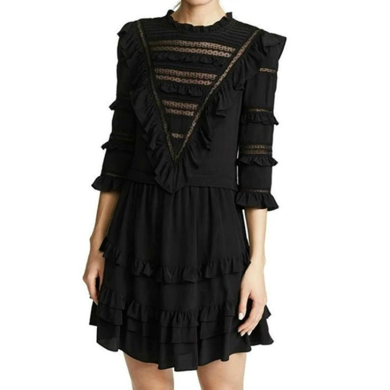 Rebecca Taylor Black Lace Casual Dress