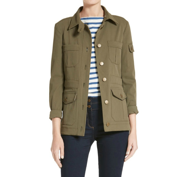 Veronica Beard Army Green Camp Jacket